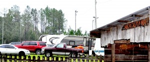 "The ""Hospitality Hunt"" sign at Calico Fort in Fort Deposit was a welcome sight to Hurricane Michael evacauee campers from Florida who made their way there Wednesday, Oct. 10th when other campgrounds were full."
